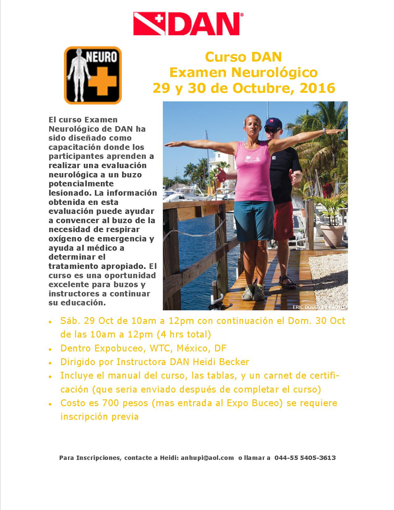 Expo Buceo Neuro Exam Course Promo 2016